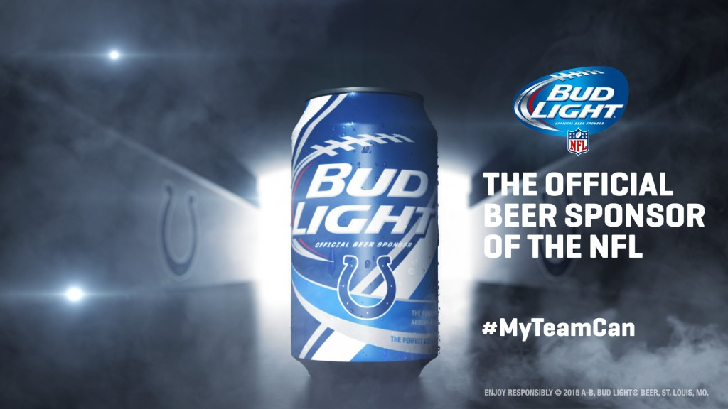 Indianapolis Colts Bud Light Can