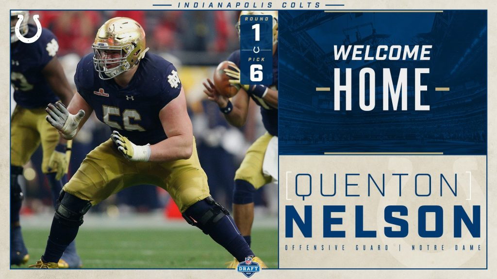 Colts Select Guard Quenton Nelson with the 6th Pick in the NFL Draft